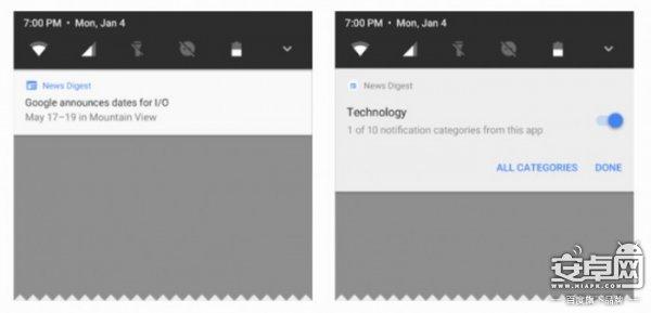 Android O预览版发布 改善电池寿命+通知